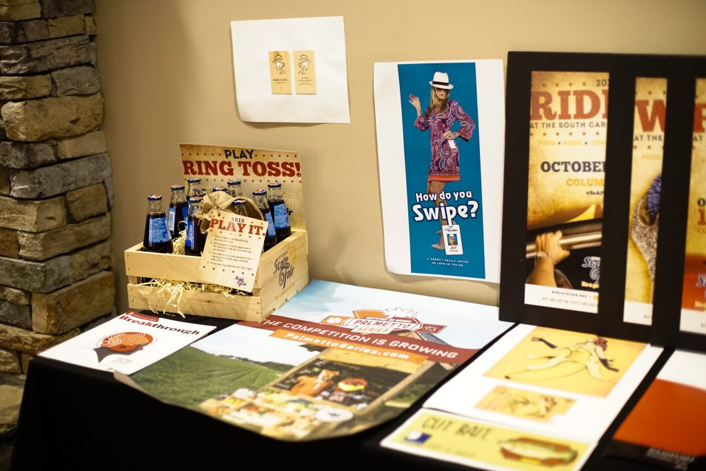 Display of some of the work submitted for the american advertising awards