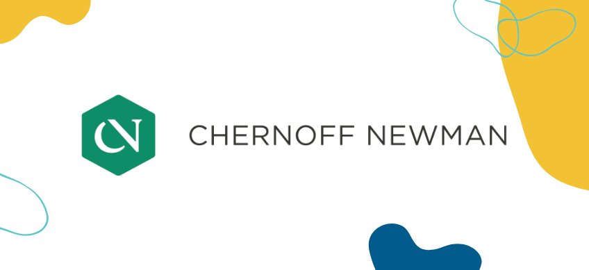 chernoff newman logo on white background with decorative border