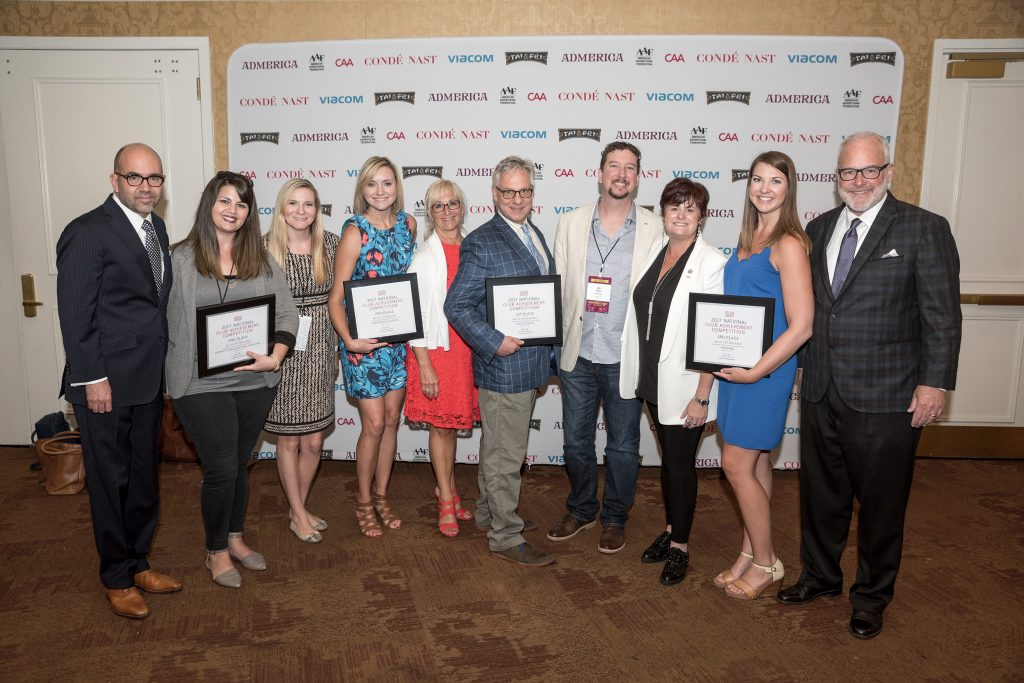 AAF Midlands board pose with their awards