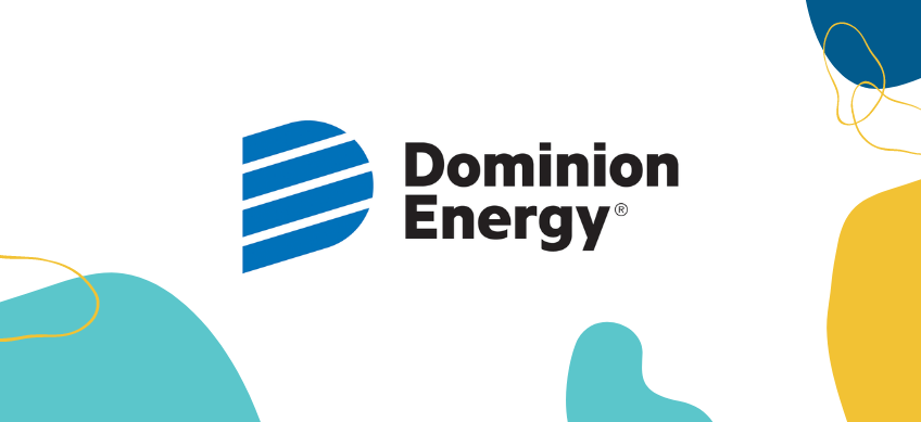 dominion energy logo on white background with decorative border