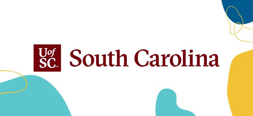university of south carolina logo on white background with decorative border