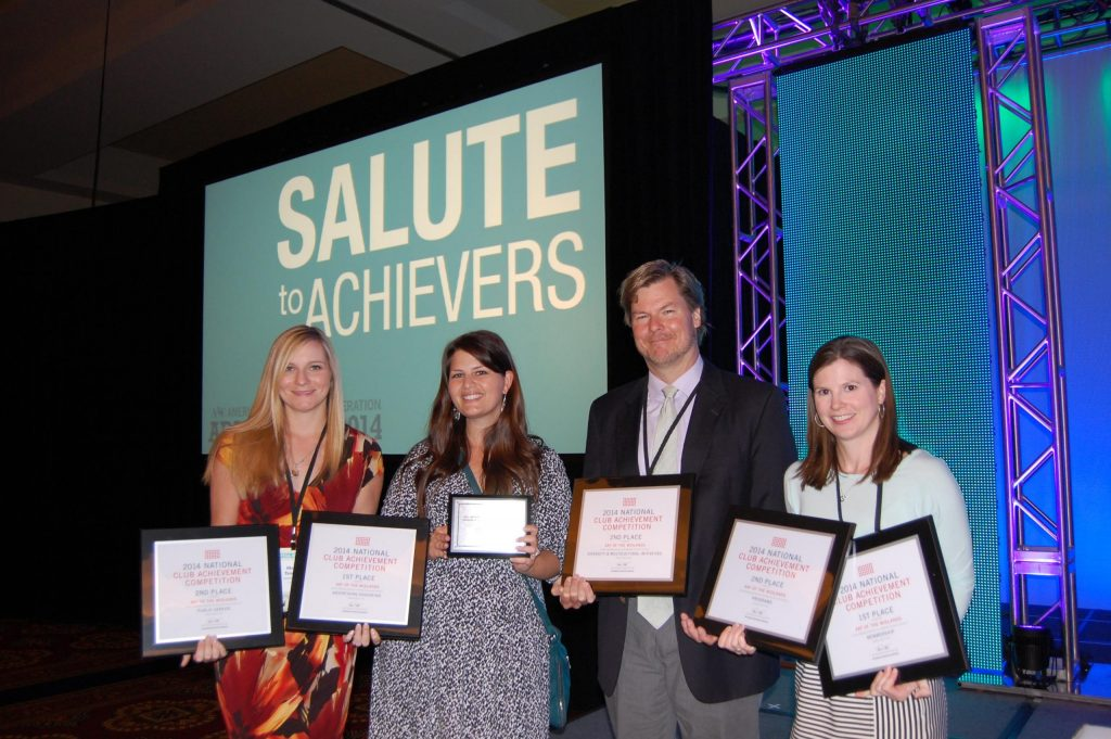 Four AAF Midlands board members accepts awards at National Convention