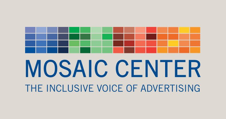 Mosaic Center logo that says Mosaic Center. The Inclusive Voice of Advertising